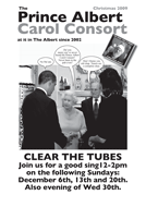 black and white poster for the Albert